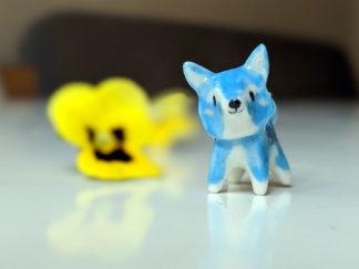 pendentif renard bleu