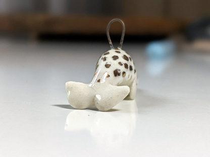 pendentif narval or ceramique