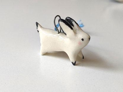 pendentif lapin blanc
