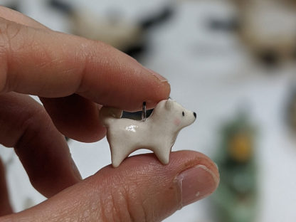 Samoyed clay charm