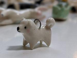 Samoyed clay charm