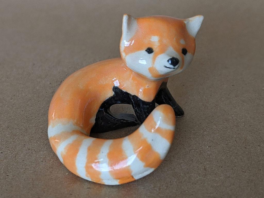 ceramics red panda