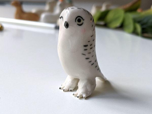 Chouette Harfang Porcelaine