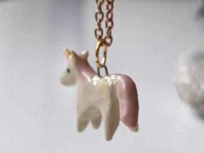 pendentif licorne rose