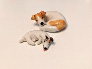 2 jack russels ceramics
