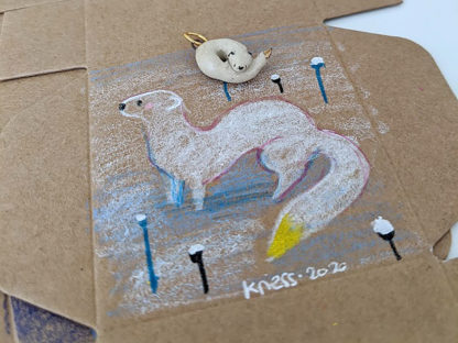 winter stoat pendant box