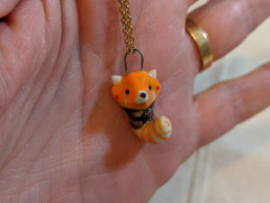 panda roux pendentif