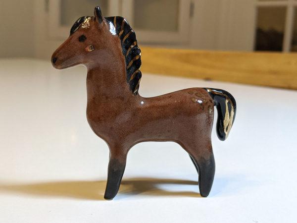 dark bay horse