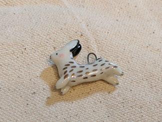 pendentif lapin or céramique