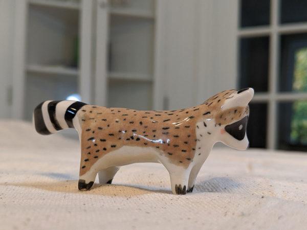 ceramic raccoon