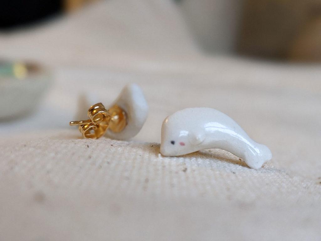 beluga earring
