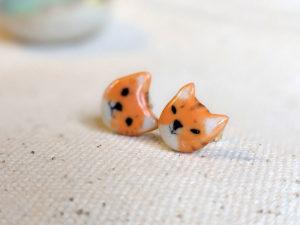 boucles d'oreille chat roux