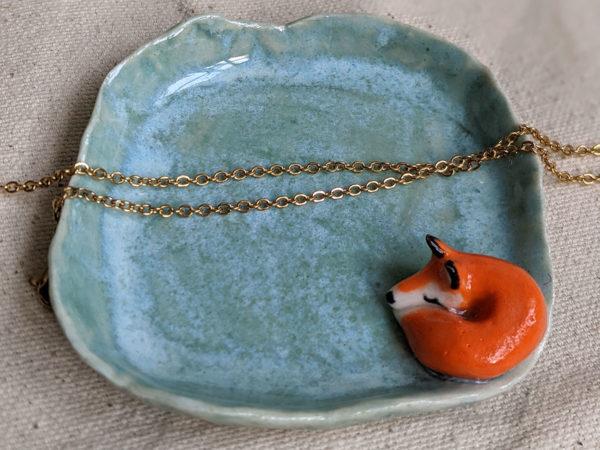fox jewelry dish