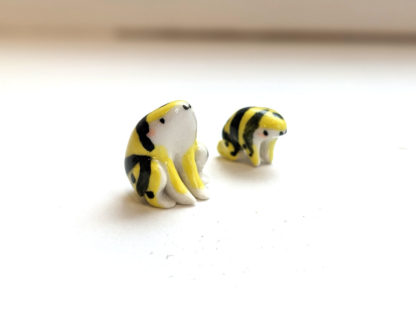 grenouilles porcelaine porcelain frogs