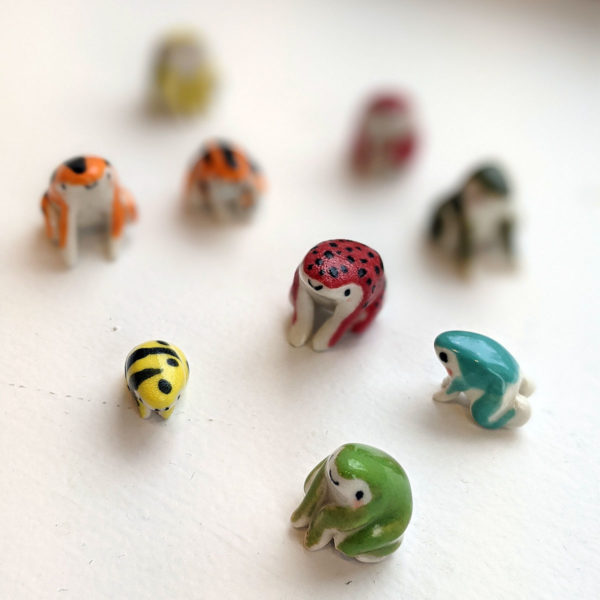 grenouilles porcelaine