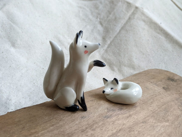 sitting arctic fox