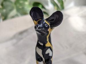 painted dog porcelaine lycaon
