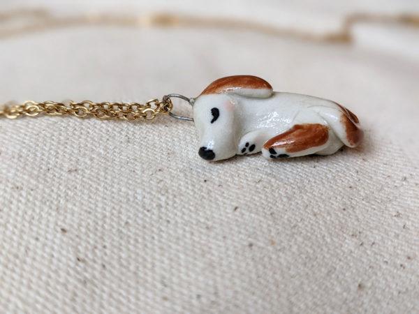 sleepy dog pendant