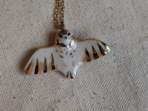 wingspread barn owl pendant