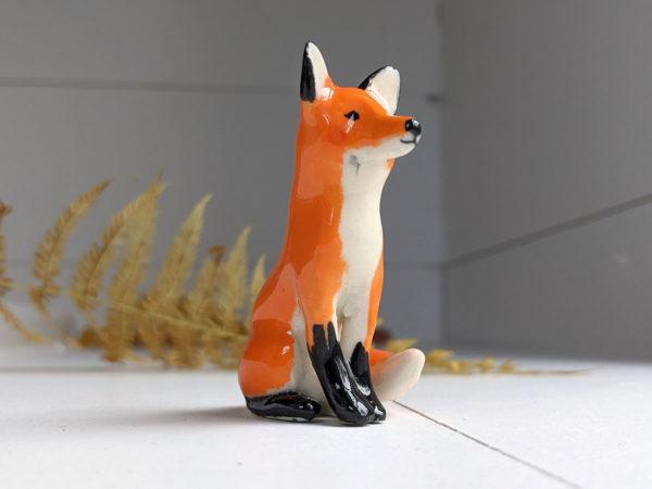 porcelain red fox figurine