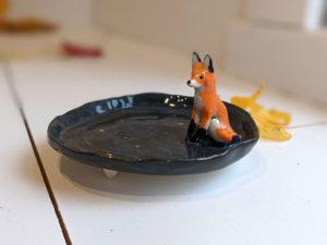 fox jewelry tray