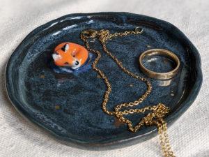 fox tray night porcelain