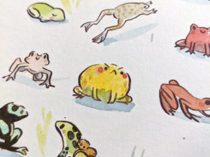 72 frogs painting