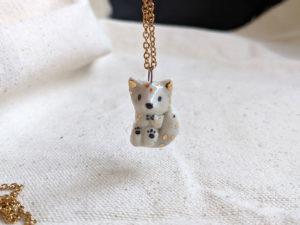 arctic fox pendant