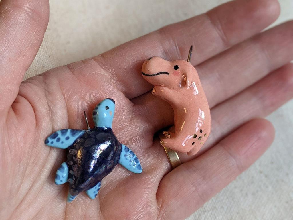 finished porcelain pendants