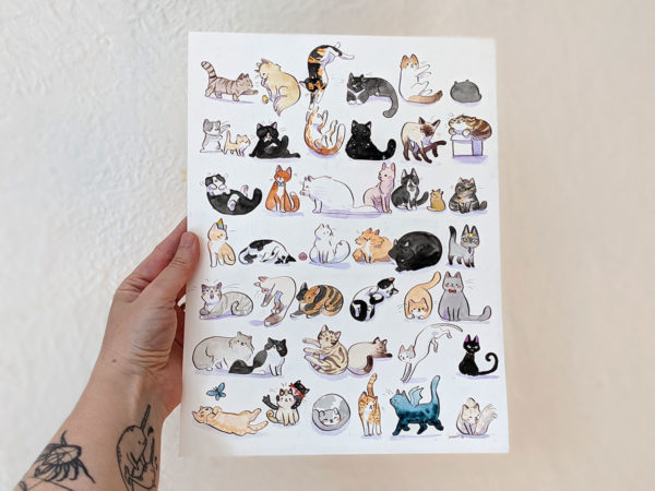 aquarelle chats
