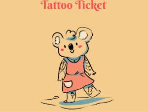ticket tatouage