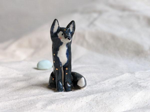 porcelain night fox