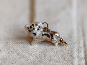 porcelain pendant clouded leopard