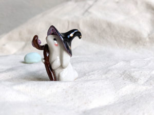 porcelain lop bunny wizard