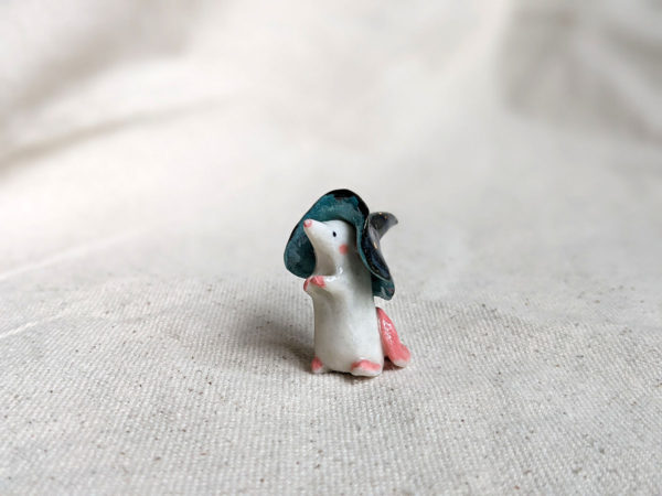 witch mouse porcelain figurine