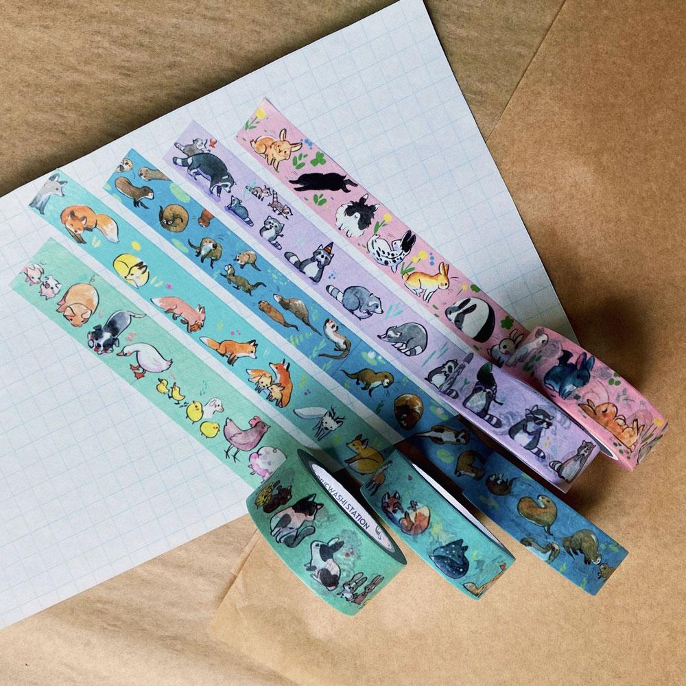 animal washi tape