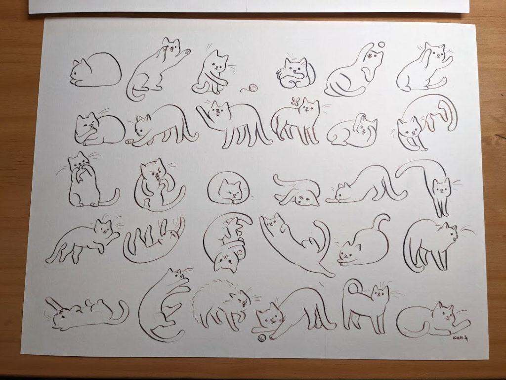 inked cat portraits