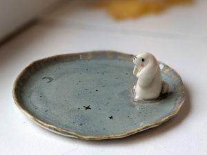 porcelain bunny tray