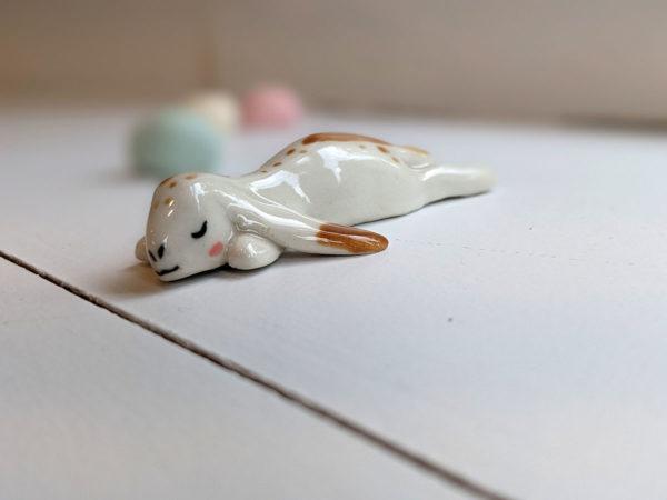 porcelain lop bunny figurine