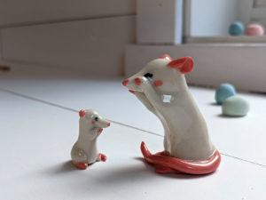 figurine rat blanc