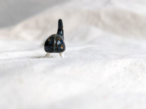 porcelain beetle figurine