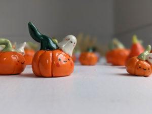 porcelain pumpkin figurine cute