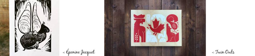 Lithographie et sérigraphie sur bois