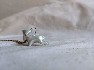 white panther pendant