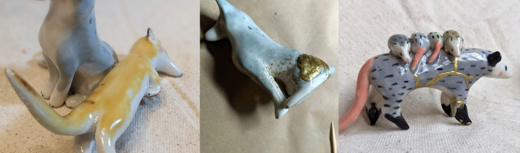 How to repair porcelain figurines kintsugi style