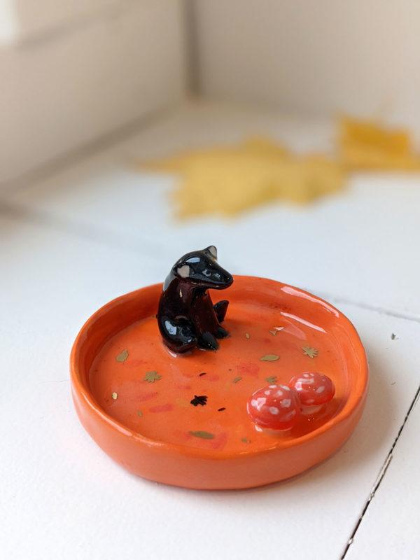 porcelain bear tray