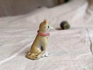 Porcelain dog figurine