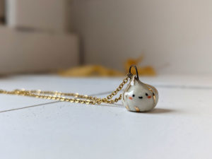 porcelain garlic pendant