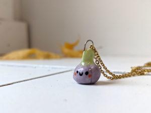purple porcelain pendant pumpkin
