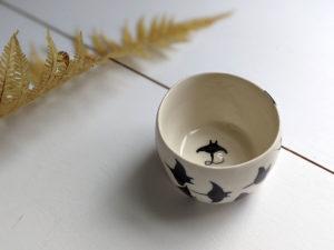 handmade porcelain tumbler rays